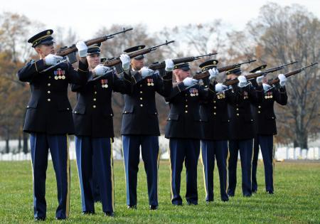 Georgia National Guard firing party